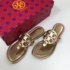 Tory Burch Rose Gold Miller Sandals